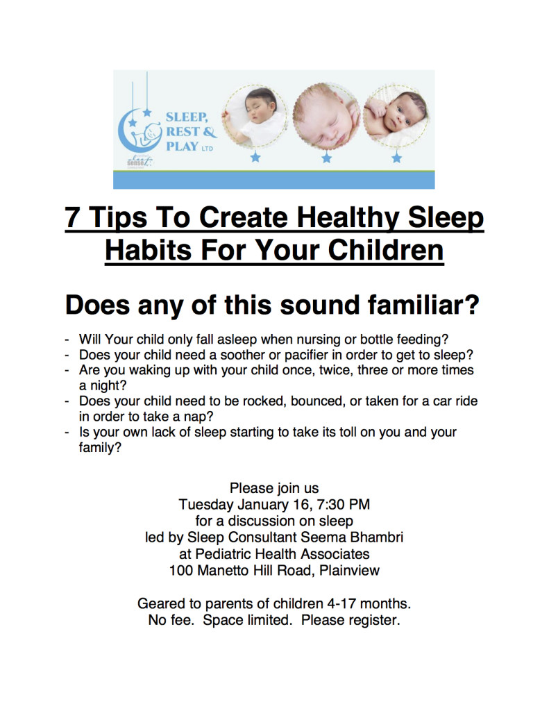 sleep seminar flyer PHA Jan 2018